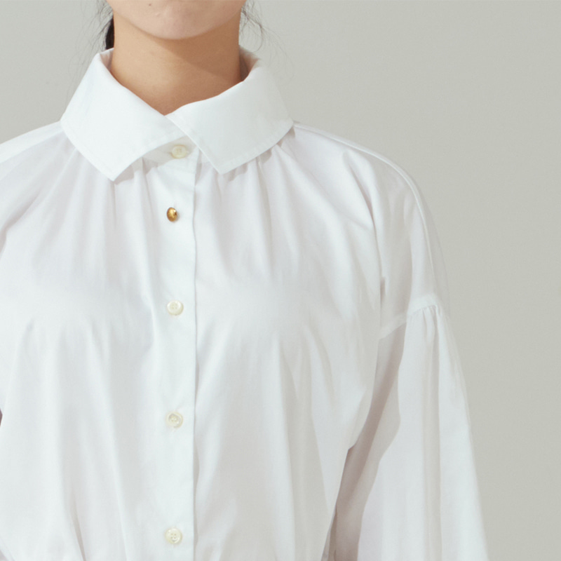 Shirring blouse_Off white
