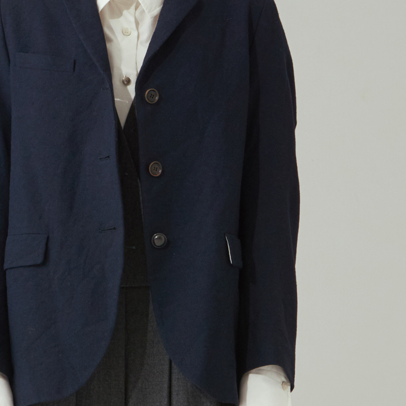 Tailored 3button single jacket(women)_Navy