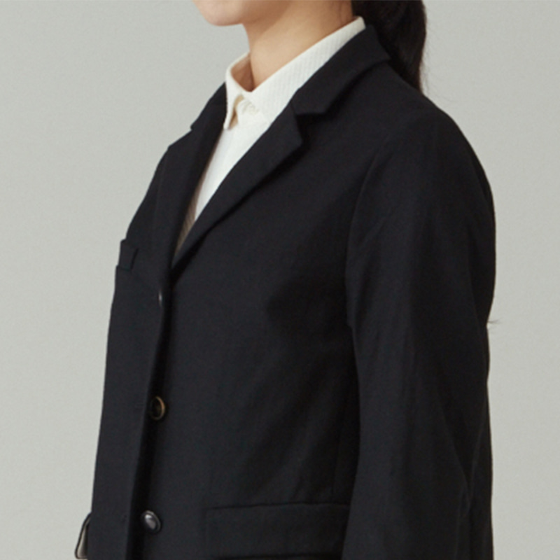 Tailored 3button single jacket(women)_Black