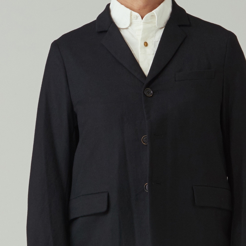 Tailored 3 button single jacket_Black