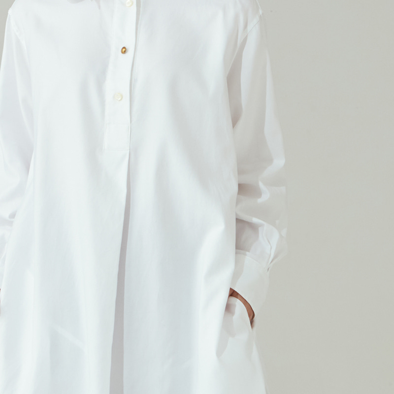 Long pullover shirts_Off white