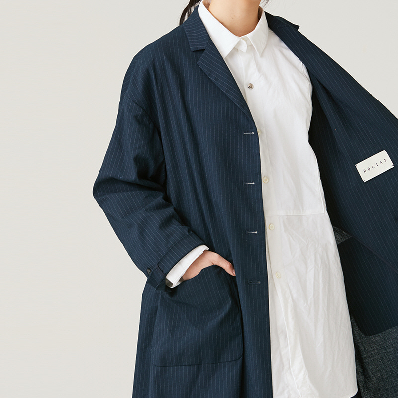 Single breasted coat_Navy