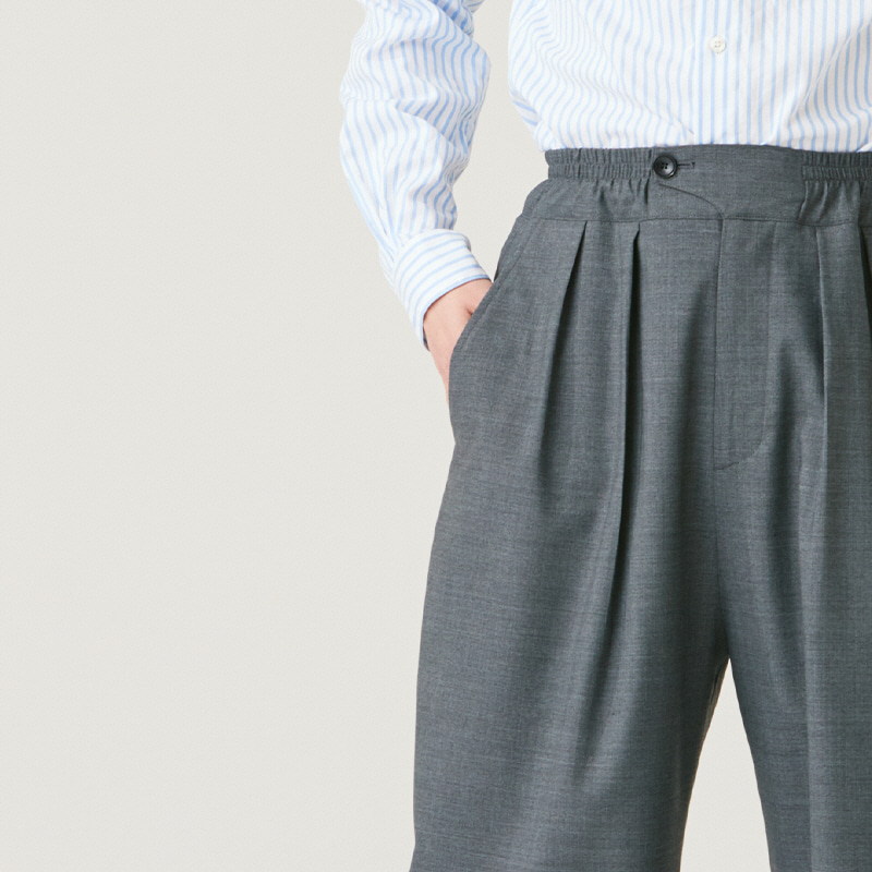 Light Banding string pants_Grey