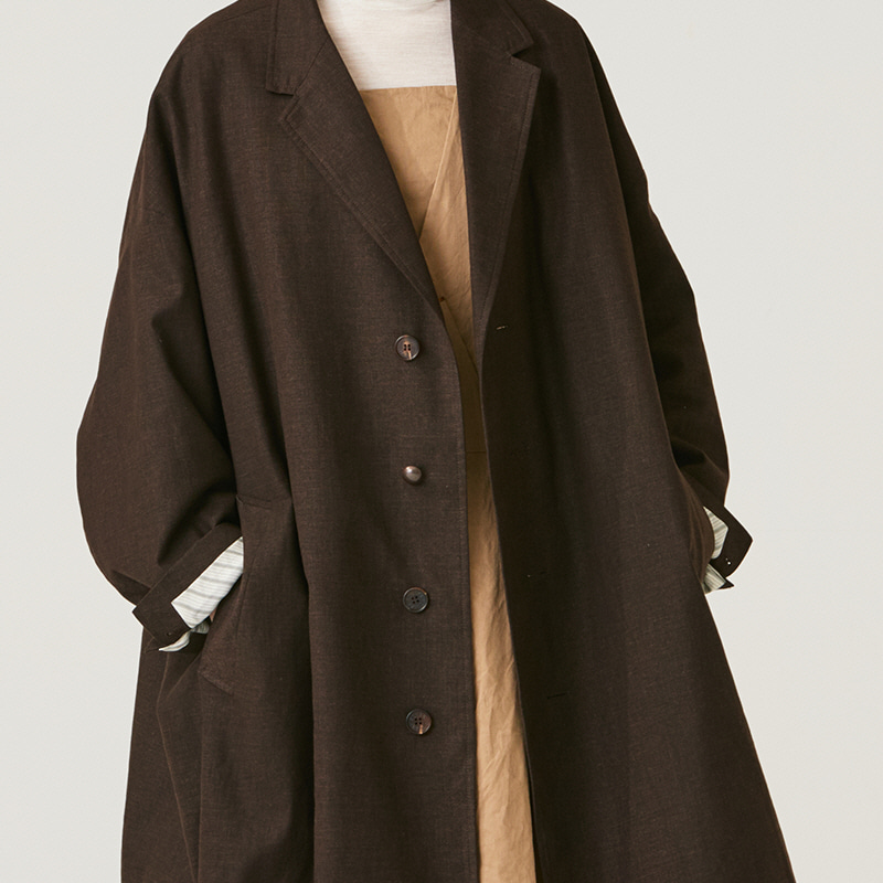 Oversized single coat_Brown