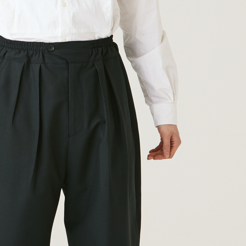 Light Banding string pants_Black