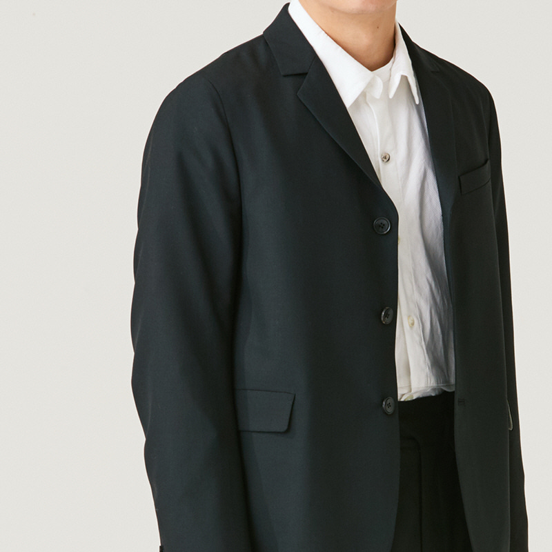Tailored 3button middle jacket_Black
