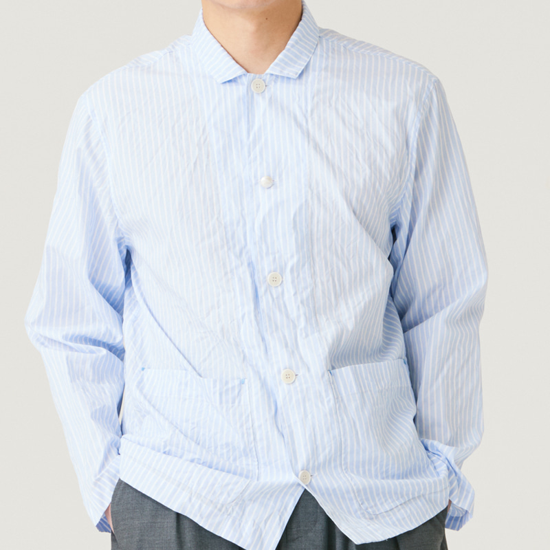Out pocket shirts_Stripe(Garments Washing Finish)