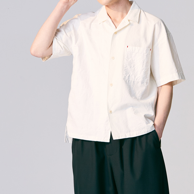 Open collar shirts_Jacquard(Garments Washing Finish)