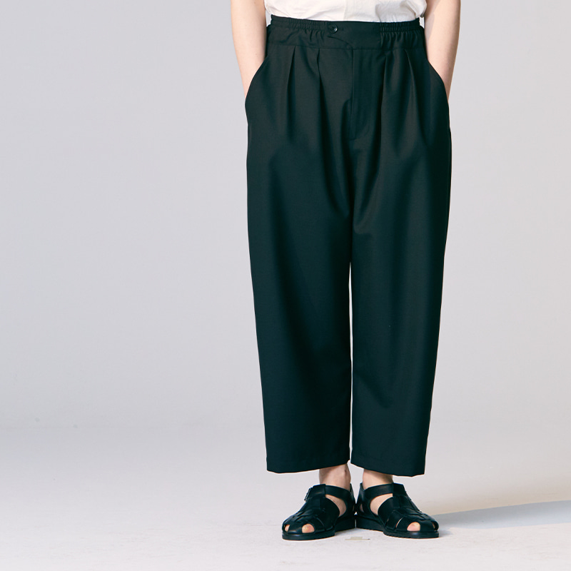 Summer Banding string pants_Black