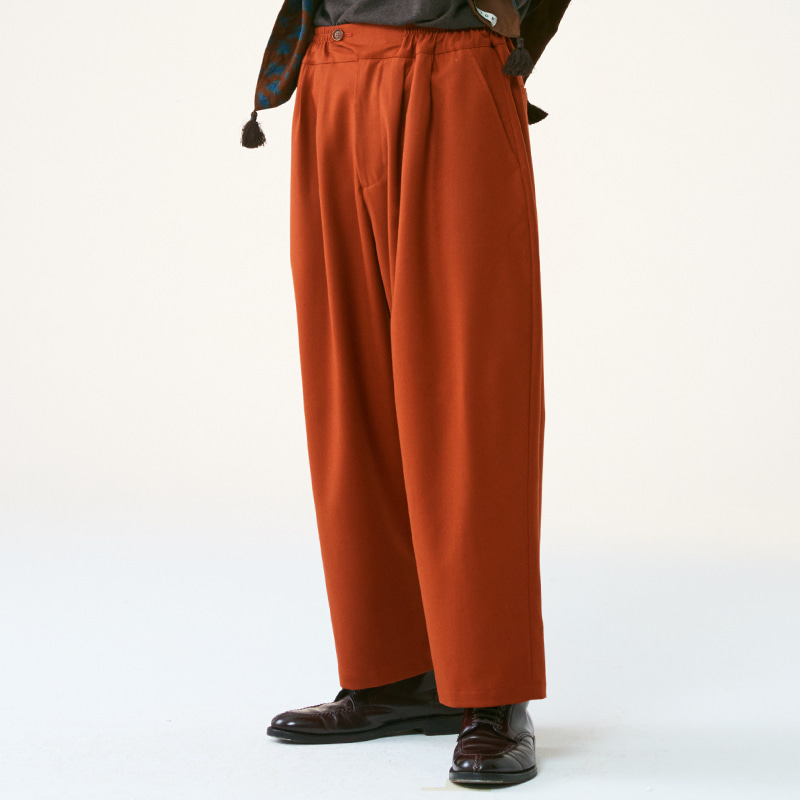 Banding string pants_Carrot