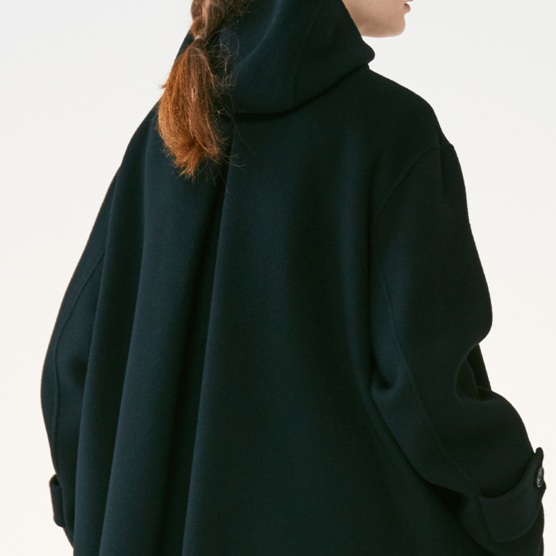 [SALE]Hand-made Inverted pleats hoodie Coat_Black[(10%off)1,280,000원→1,152,000원]