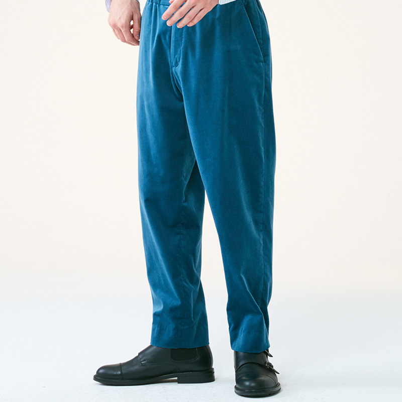 Regular Banding pants_Blue