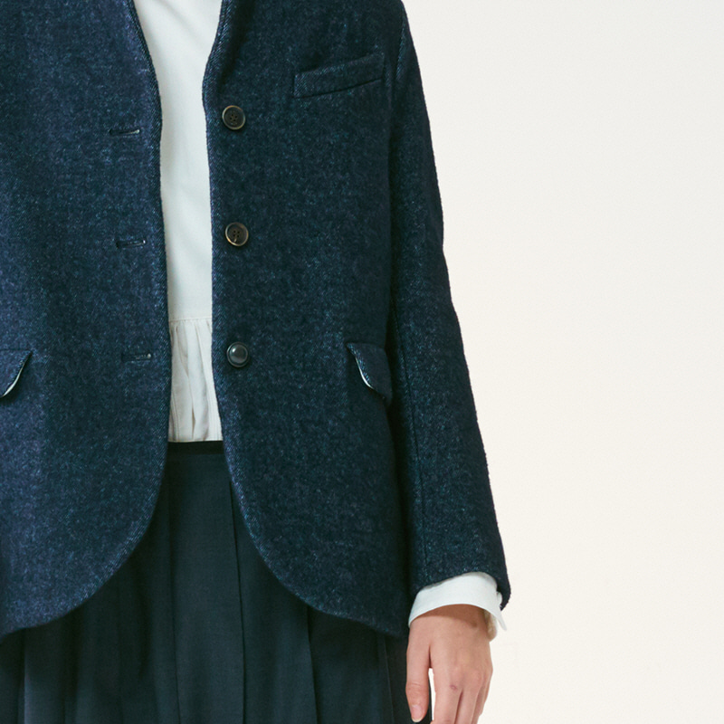 Tailored 3button single jacket(women)_Indigo