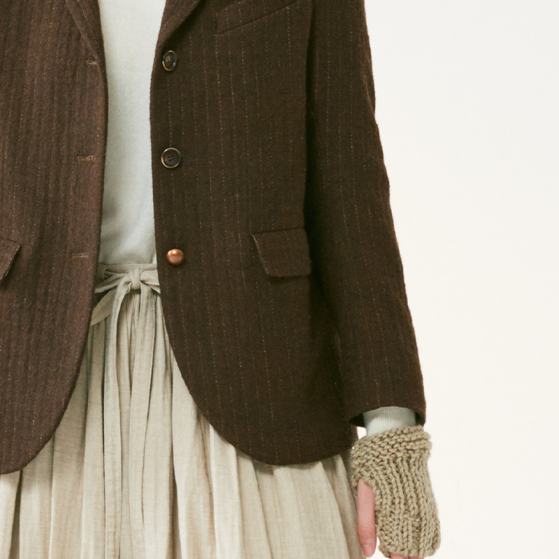 Tailored 3button single jacket(women)_Brown