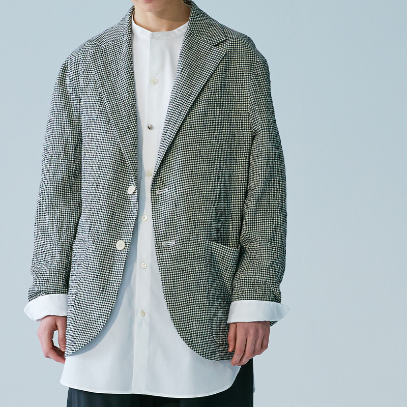 Tailored 3 button single jacket(women)_Check