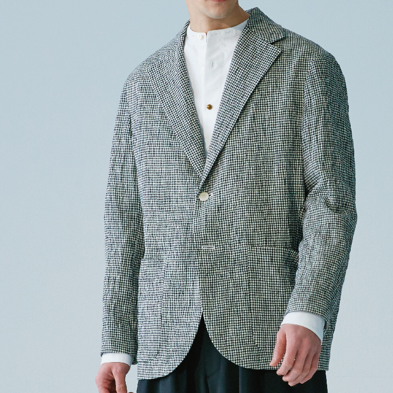 Notched 3 button single jacket_Check