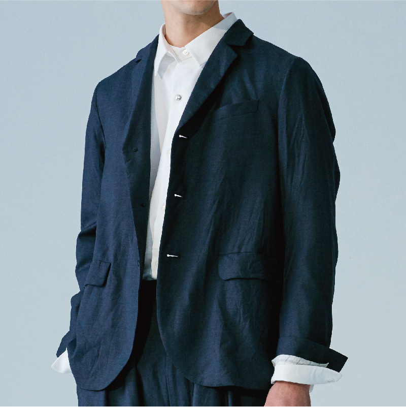 Tailored 3 button single jacket_Charcoal