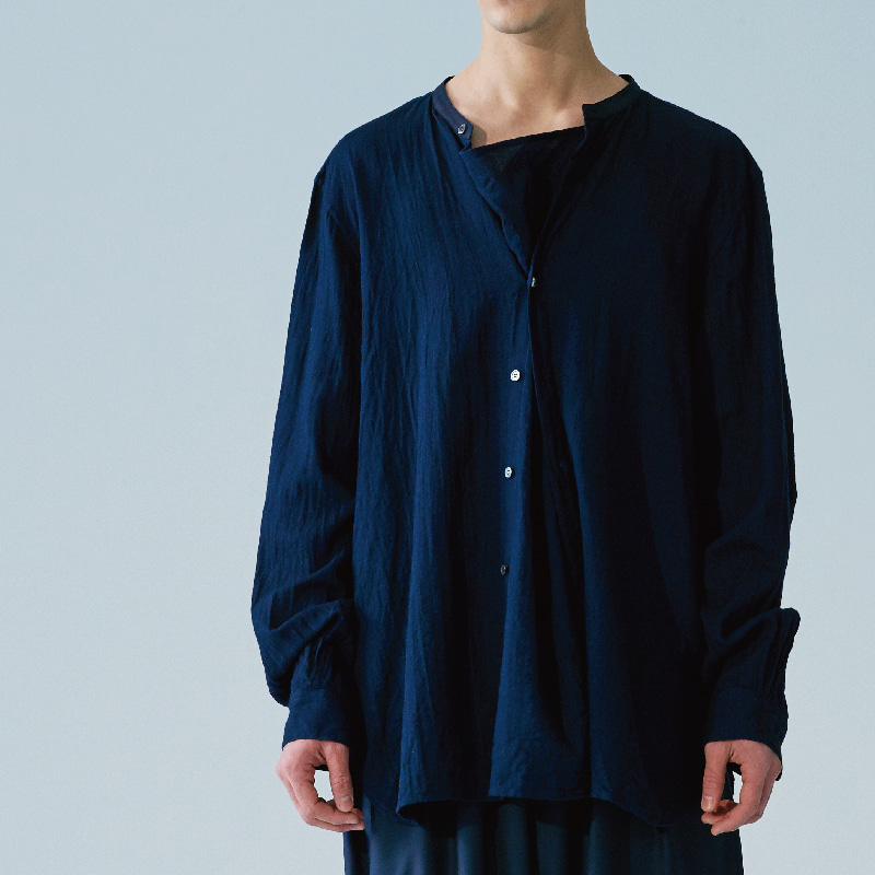 Hiden extra pullover shirts_Navy(Garments Washing Finish)