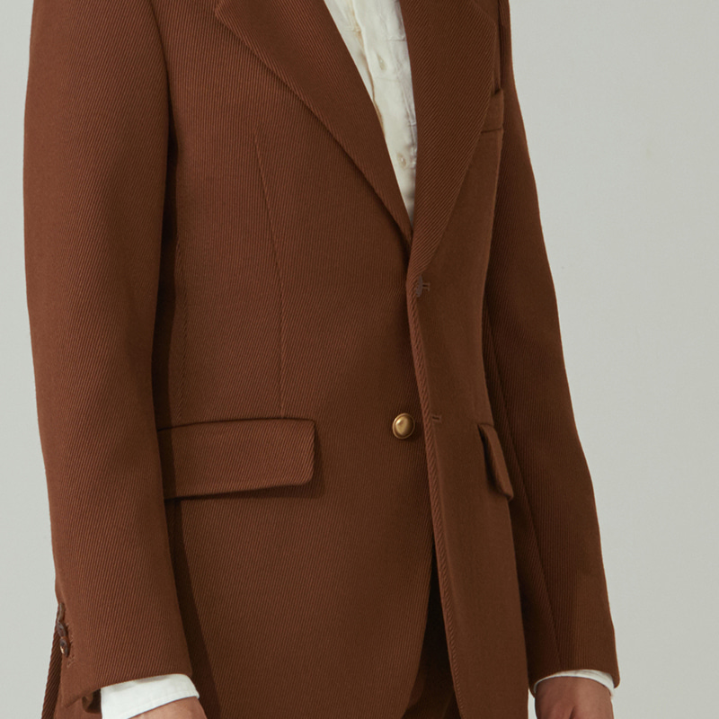 Vintage lapel single jacket_Camel