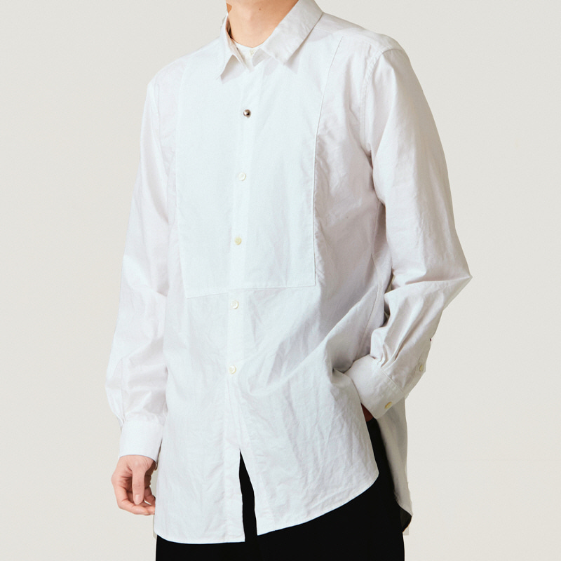 Detachable-collar tuxi shirts_Off white