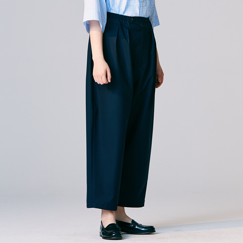 Summer Banding string pants_Navy